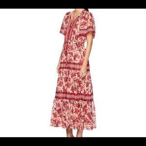 Kate Spade Paisley Blossom Maxi Dress- size Small